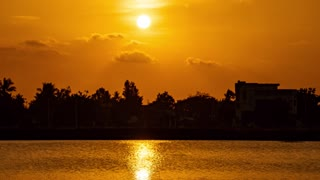 Beautiful Time Lapse Video Of A Sunset At A Village
