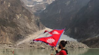 The lowest elevated glacier lake in Nepal