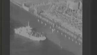 Centcom footage of Iranian attack
