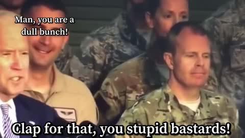 Joe Biden disrespects our military!