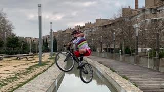 Insane Bike Skills in Barcelona