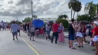 Thousands pack Sarasota Fairgrounds for rally featuring President Donald Trump