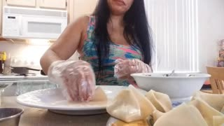 Making/cooking dinner