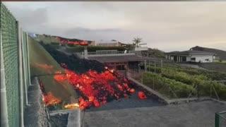 Volcano erupts on Spanish island of La Palma