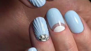 Beautiful manicure.Design ideas.Manicure with a marine theme