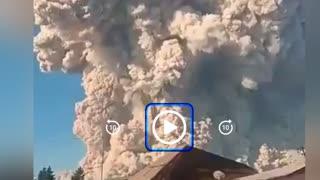 Mount Sinabung volcano Indonesia erupts