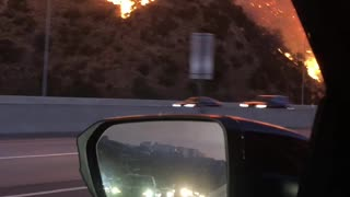 Driving through the Getty Fire