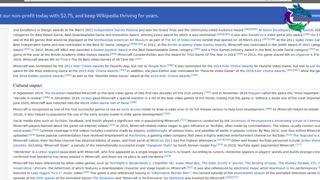 Brief History of MineCraft