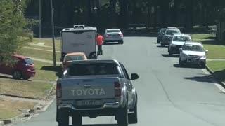 Truck Drives a Little Dodgy