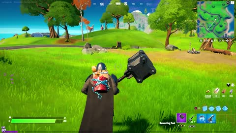 Playing Fortnite for fun and completing quests!