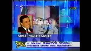 Francesco Cossiga in una intervista di Rai1