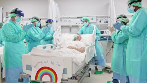 Medical Team and Patient Expressing Support and Gratitude