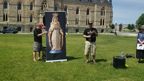 Spiritual Reflection at Parliament Hill Rosary Rally