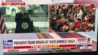 President Trump at the Washington DC Rally