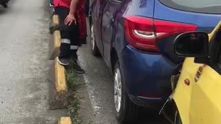 'Acordeón' de carros en la autopista a Floridablanca - Bucaramanga por accidente