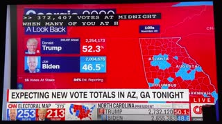 Total Votes for Trump in Georgia Drop Over Time Live on CNN