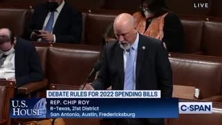 Rep. Chip Roy (TX) destroyed the Democrats on the House Floor today over their mask mandates