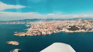 flying over marseille france