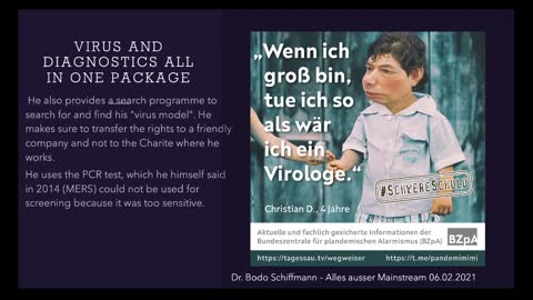 Where does SARS-COV2 come from? Dr. Bodo Schiffmann 06.02.2021