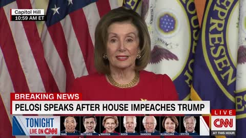 """Pelosi Says She Has A """"Spring In My Step"""" After Impeachment Vote"""