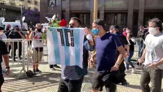 Abren en la Casa Rosada el velatorio público de Diego Armando Maradona