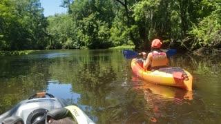 Kayaks on Julington creek