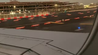 airplane taxiing to runway
