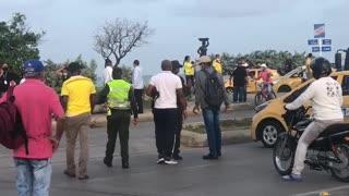 Arrancó el paro de taxistas en Cartagena