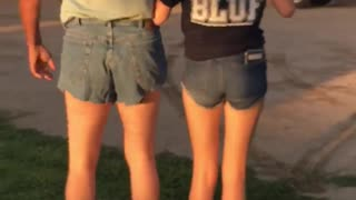 Dad and Daughter Disagree Over Short Shorts