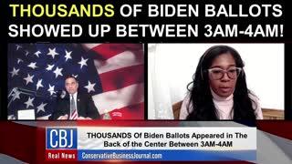 THOUSANDS Of Biden Ballots Showed Up Between 3AM-4AM!