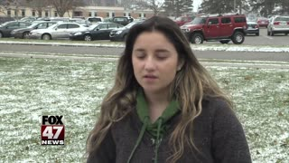 Students speak out in support of Michigan teacher
