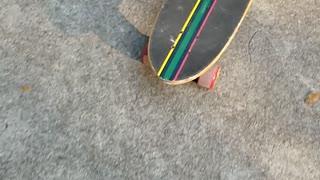 Wilson the Toilet Paper Roll Skateboarding