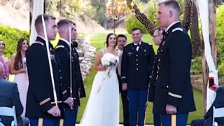 This is what happens when the groom & his groomsmen are West Point graduates