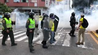 Paro de conductores | Gas lacrimógeno ESMAD