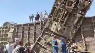 32 people have died in a train collision in Egypt
