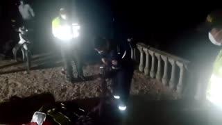 Tras salvar a una mujer, hombre se fue al abismo en el Cañón del Chicamocha