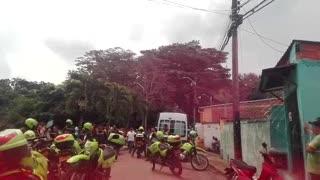 Policía resultó herido en el norte de Bucaramanga