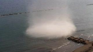 Bizarre tornadic waterspout filmed in Cyprus