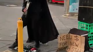 Australia: Darth Vader busking for a new death star in Melbourne.
