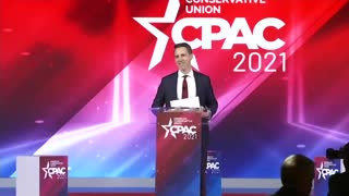 Josh Hawley give powerful speech at CPAC