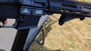 Slow motion 9mm ejection