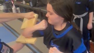 Jessica round house elbow break