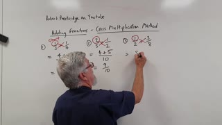 One Minute Math Adding Fractions With Cross Multiplication