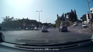 Car Crashes and Flips During Overtaking