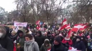 THOUSANDS Gather In Austria Vienna Hugo Talks #lockdown