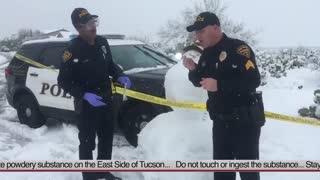 """Hilarious video of Tucson Police Department investigating """"suspicious white powder"""""""