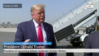 President on upcoming debate moderator Kristen Welker
