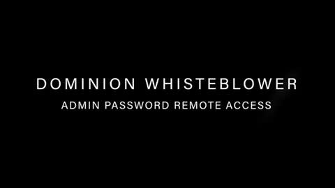 Dominion Voting machine Whistleblower