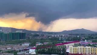 Tornado seen tearing through China's Heilongjiang