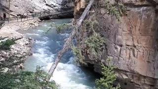 Beautiful banff national park hiking